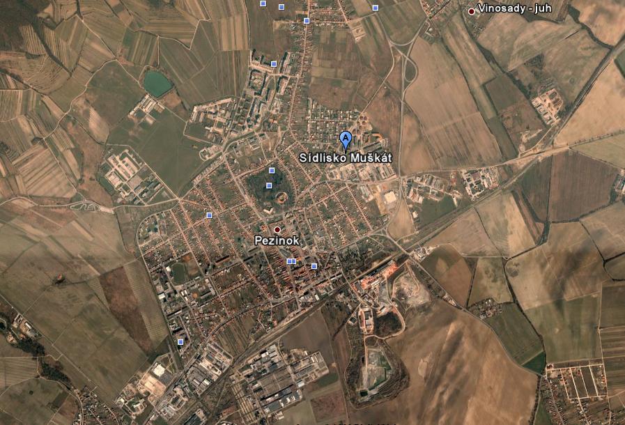 Pozemok na malopodl.výstavbu v časti Pezinok ,Muškát